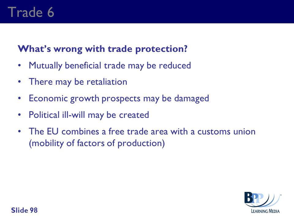 Trade 6 What's wrong with trade protection
