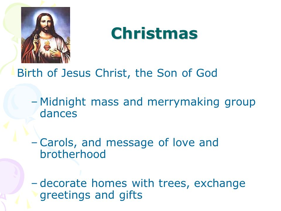 Christmas Birth of Jesus Christ, the Son of God