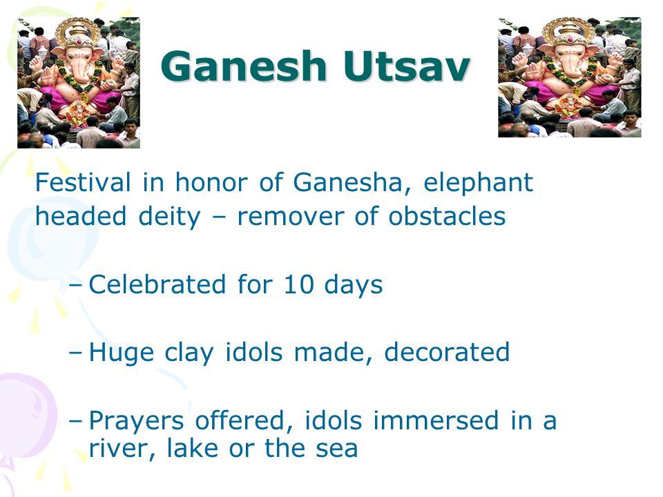 Ganesh Utsav Festival in honor of Ganesha, elephant