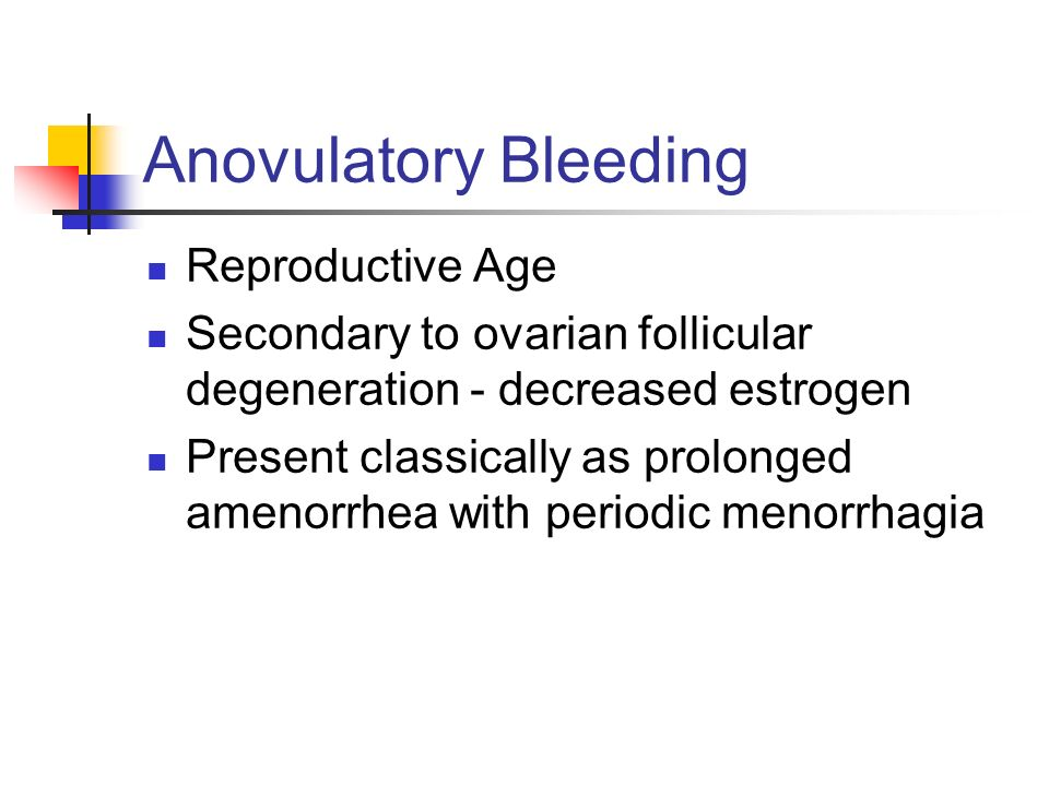 Anovulatory Bleeding Reproductive Age