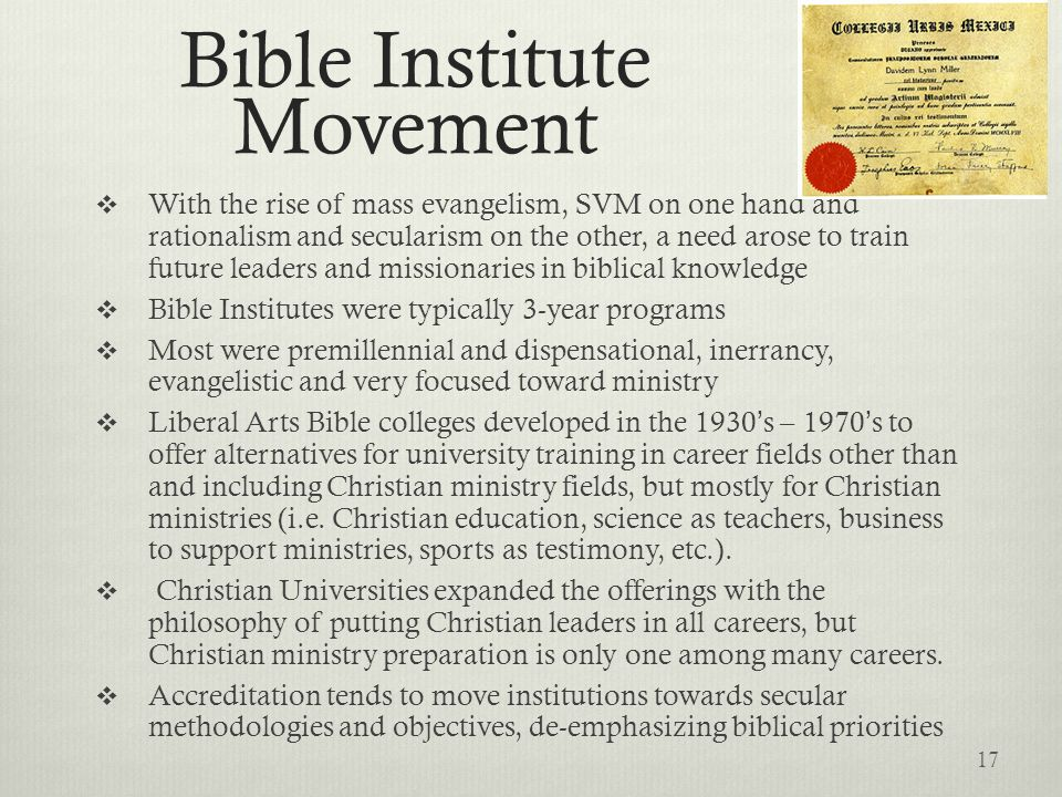 Bible Institute Movement