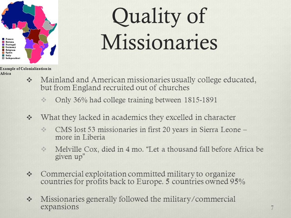 Quality of Missionaries
