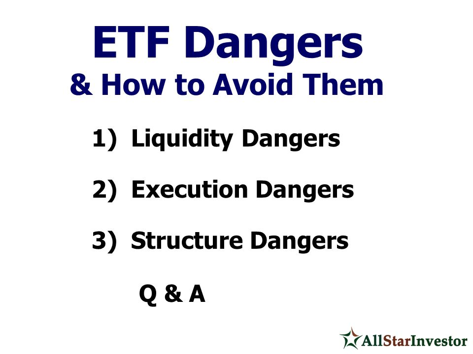 & How to Avoid Them 2) Execution Dangers 3) Structure Dangers