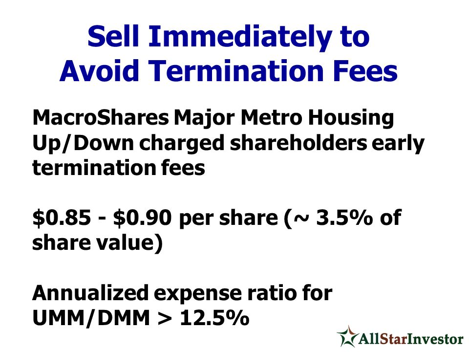 Avoid Termination Fees