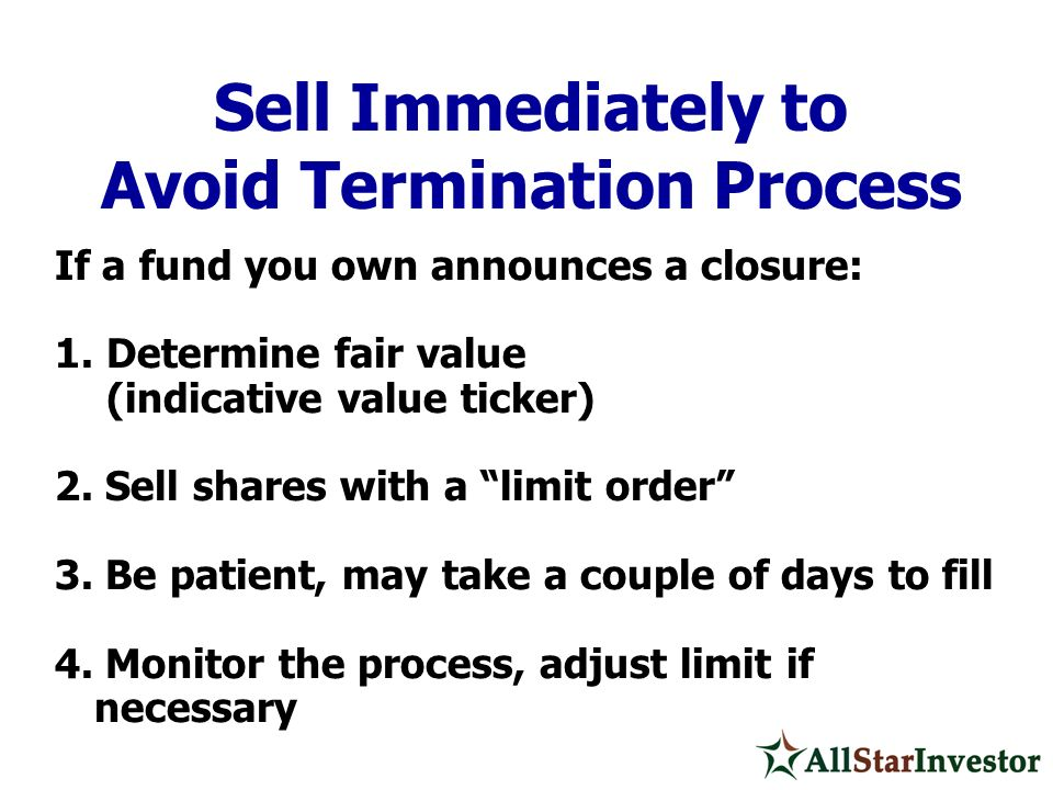 Avoid Termination Process