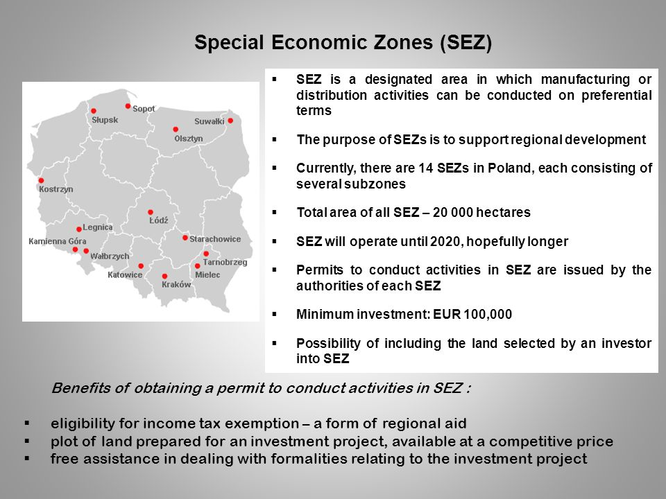 Special Economic Zones (SEZ)