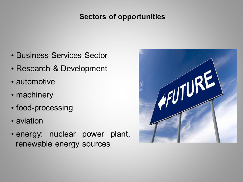 Sectors of opportunities