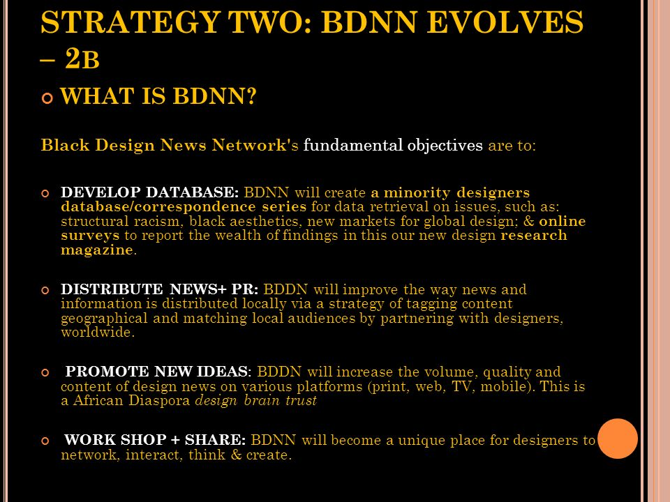 STRATEGY TWO: BDNN EVOLVES – 2b