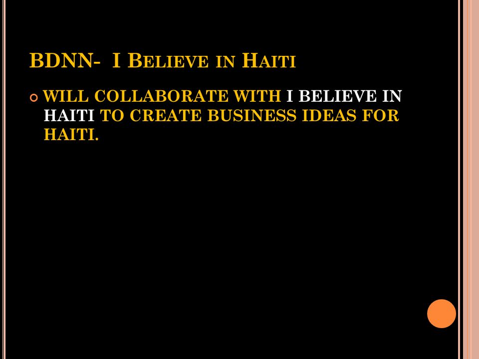 BDNN- I Believe in Haiti