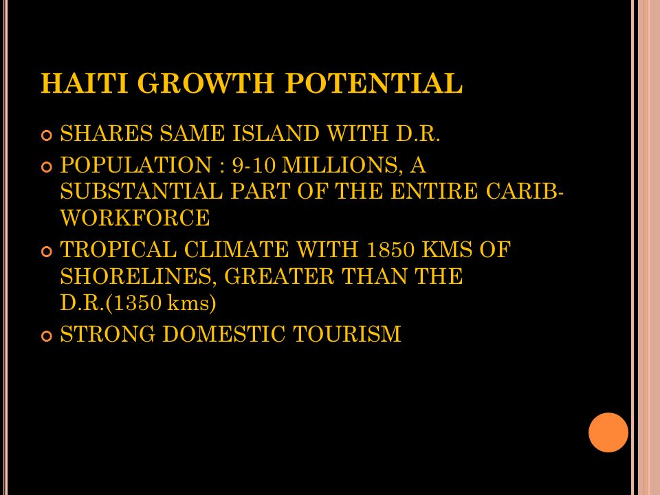 HAITI GROWTH POTENTIAL