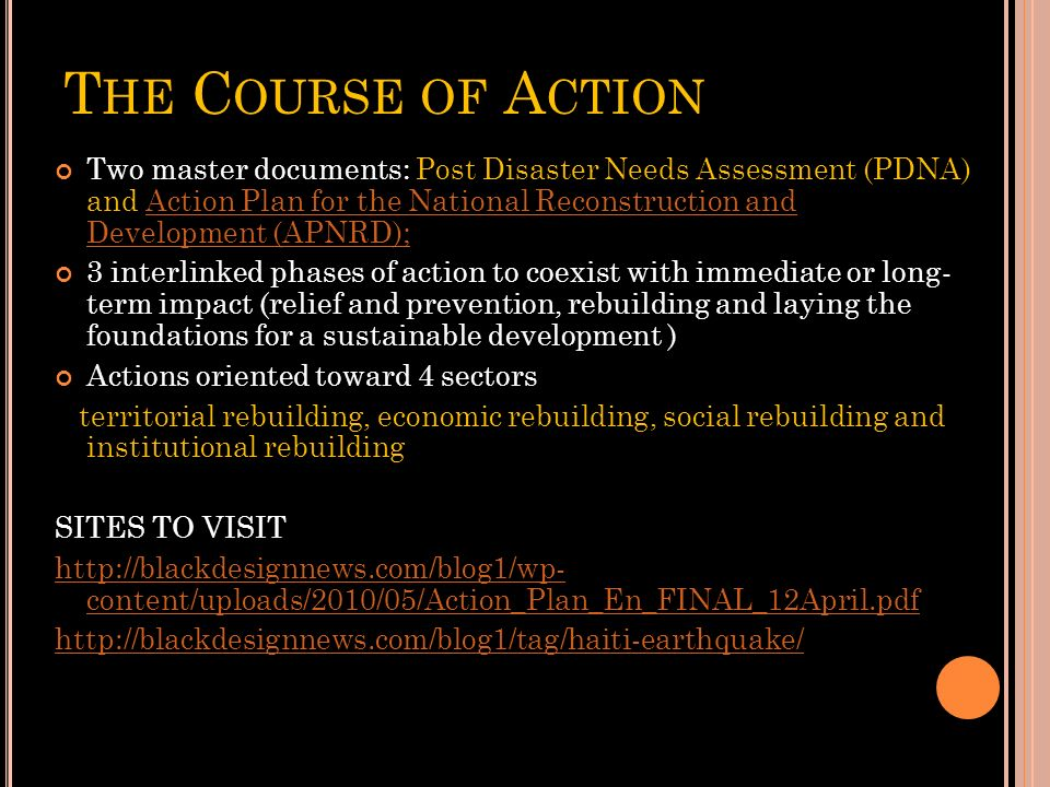 The Course of Action