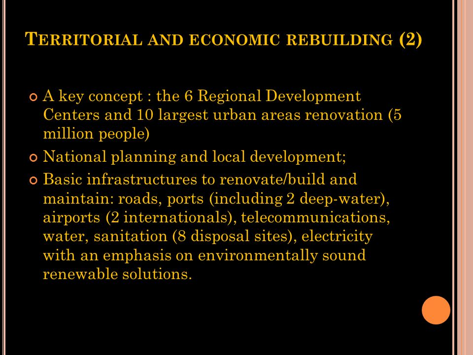 Territorial and economic rebuilding (2)
