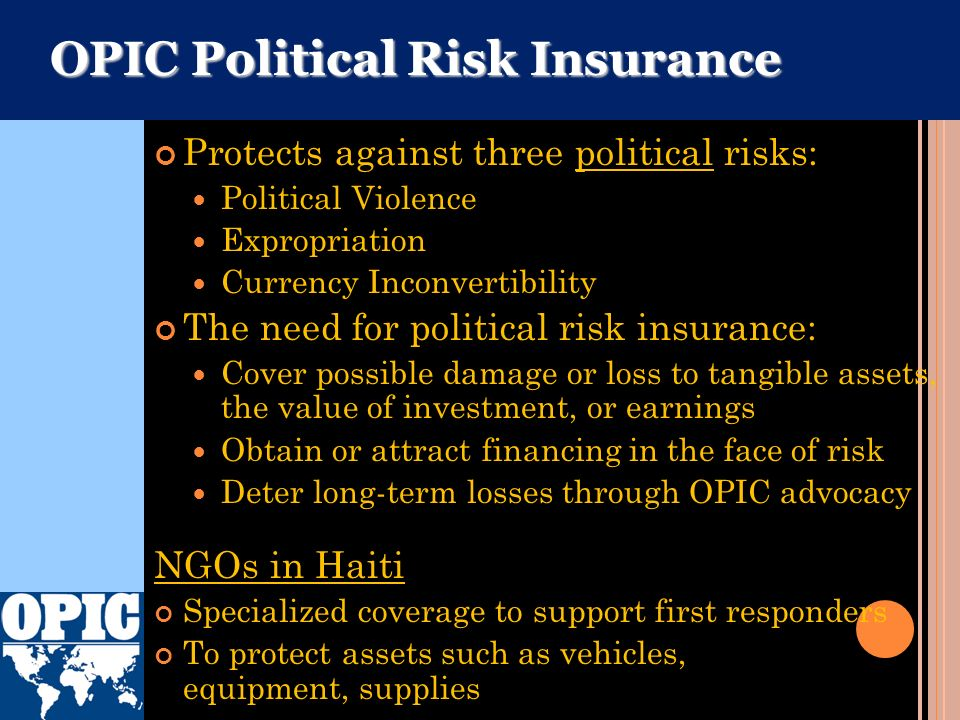 OPIC Political Risk Insurance