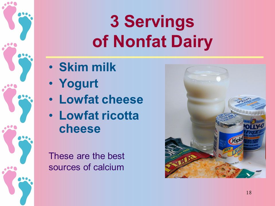 3 Servings of Nonfat Dairy