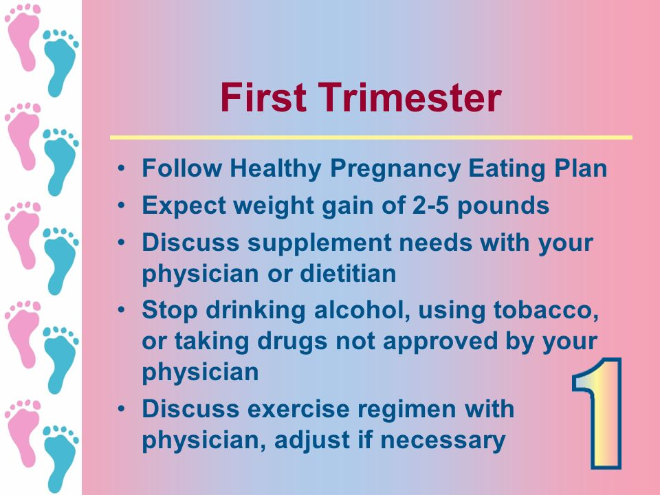 First Trimester Follow Healthy Pregnancy Eating Plan