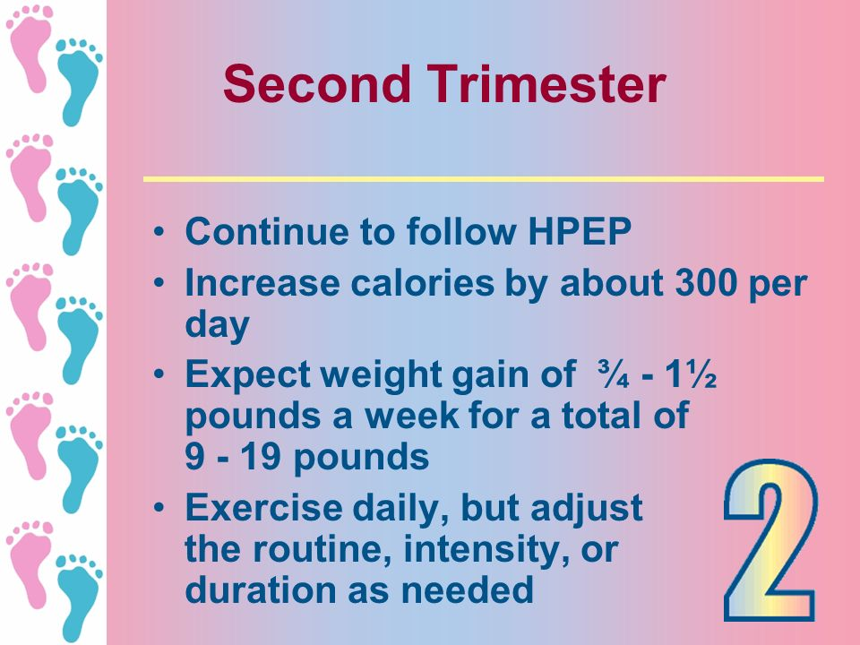 Second Trimester Continue to follow HPEP