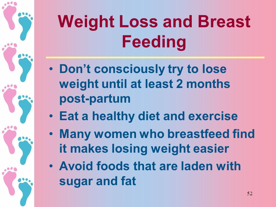 Weight Loss and Breast Feeding