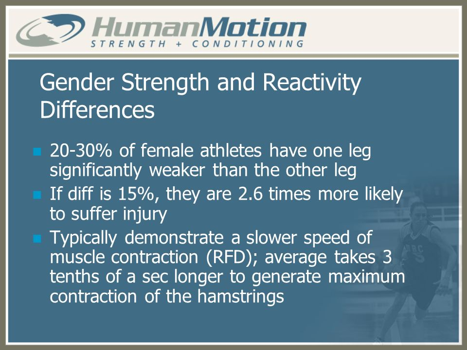 Gender Strength and Reactivity Differences