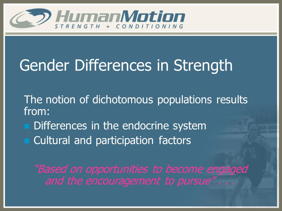 Gender Differences in Strength