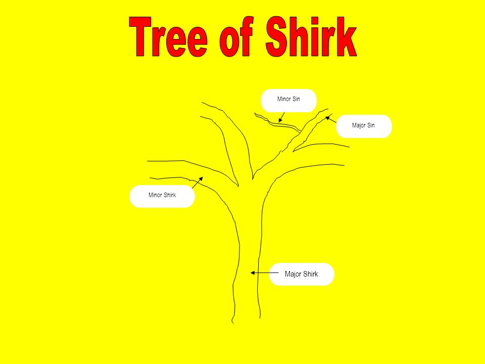 Tree of Shirk Major Shirk Minor Sin Minor Shirk Major Sin
