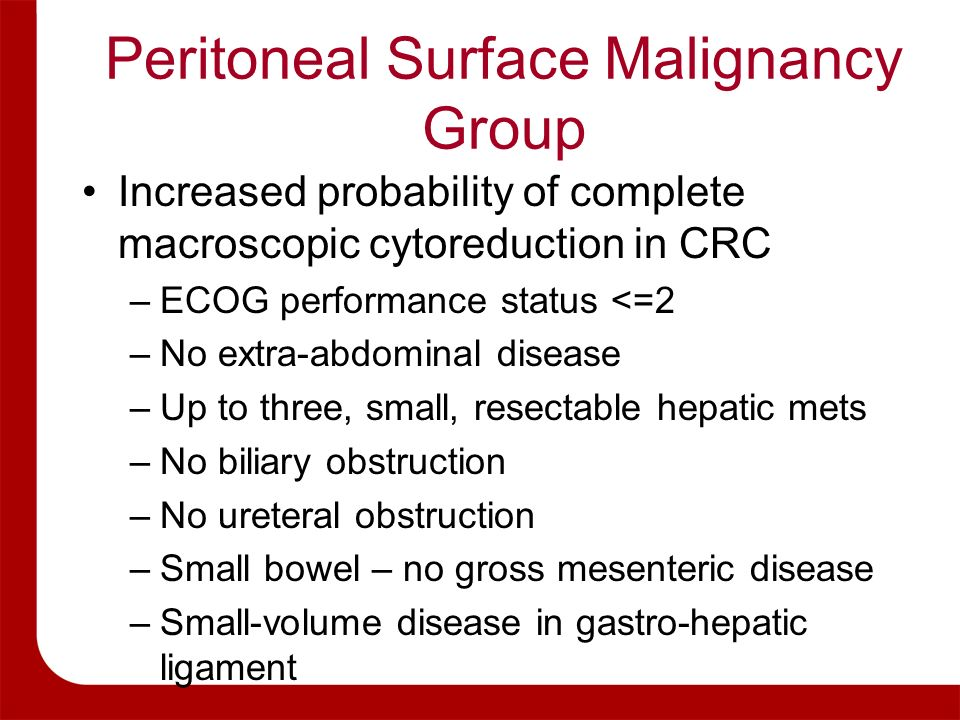 Peritoneal Surface Malignancy Group