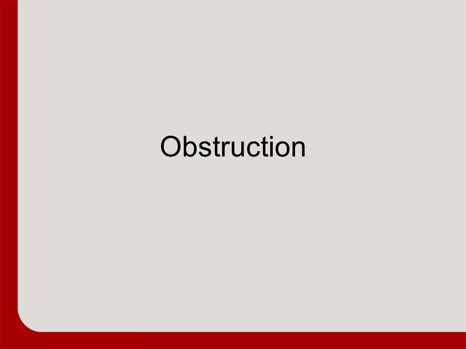Obstruction Large Projection – Content Slide