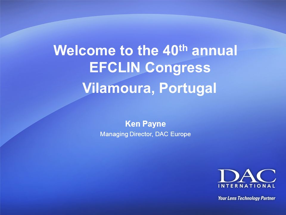 Welcome to the 40th annual EFCLIN Congress