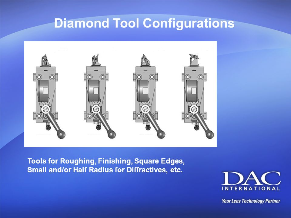 Diamond Tool Configurations