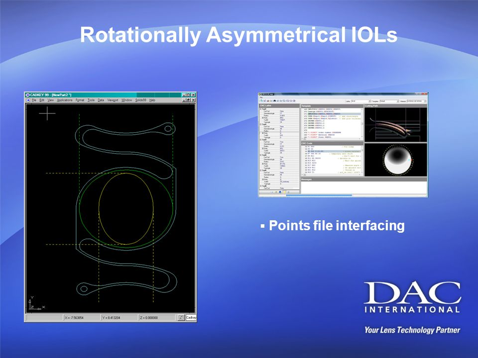 Rotationally Asymmetrical IOLs