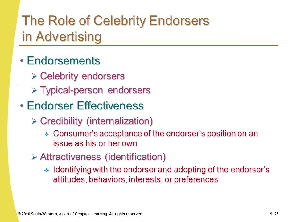 The Role of Celebrity Endorsers in Advertising