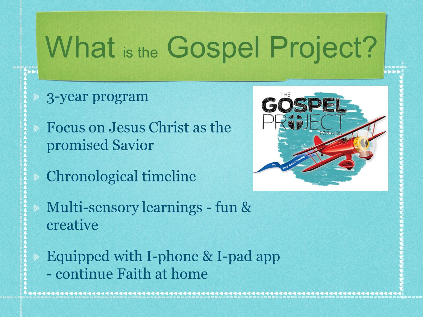 What is the Gospel Project