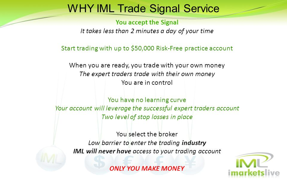 WHY IML Trade Signal Service