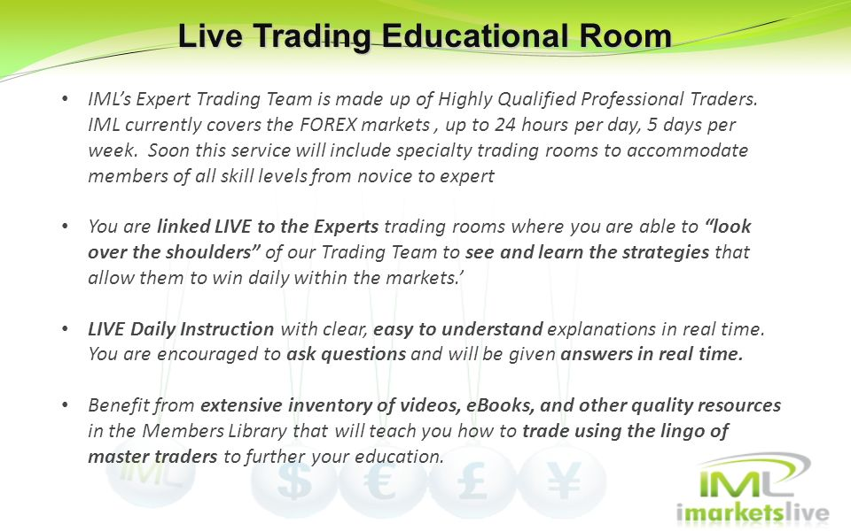 Live Trading Educational Room