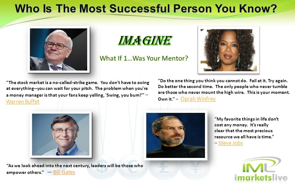 Who Is The Most Successful Person You Know
