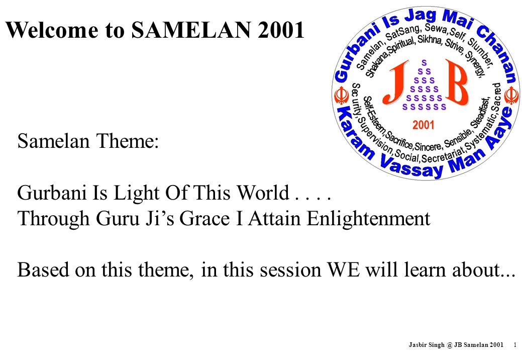 Welcome to SAMELAN 2001 Samelan Theme:
