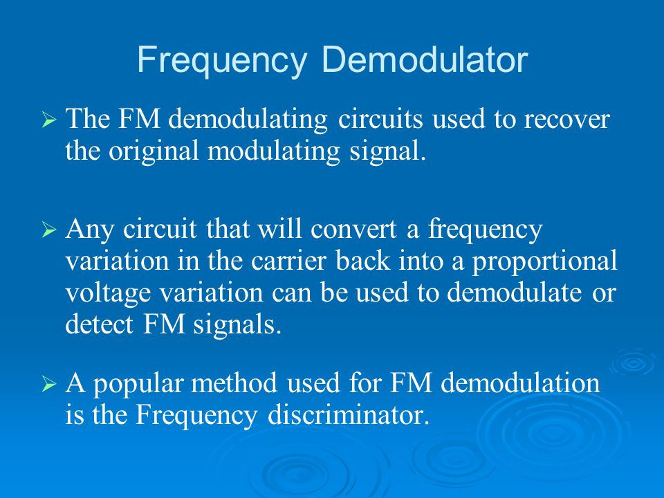Frequency Demodulator