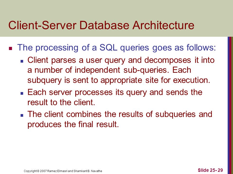 Client-Server Database Architecture