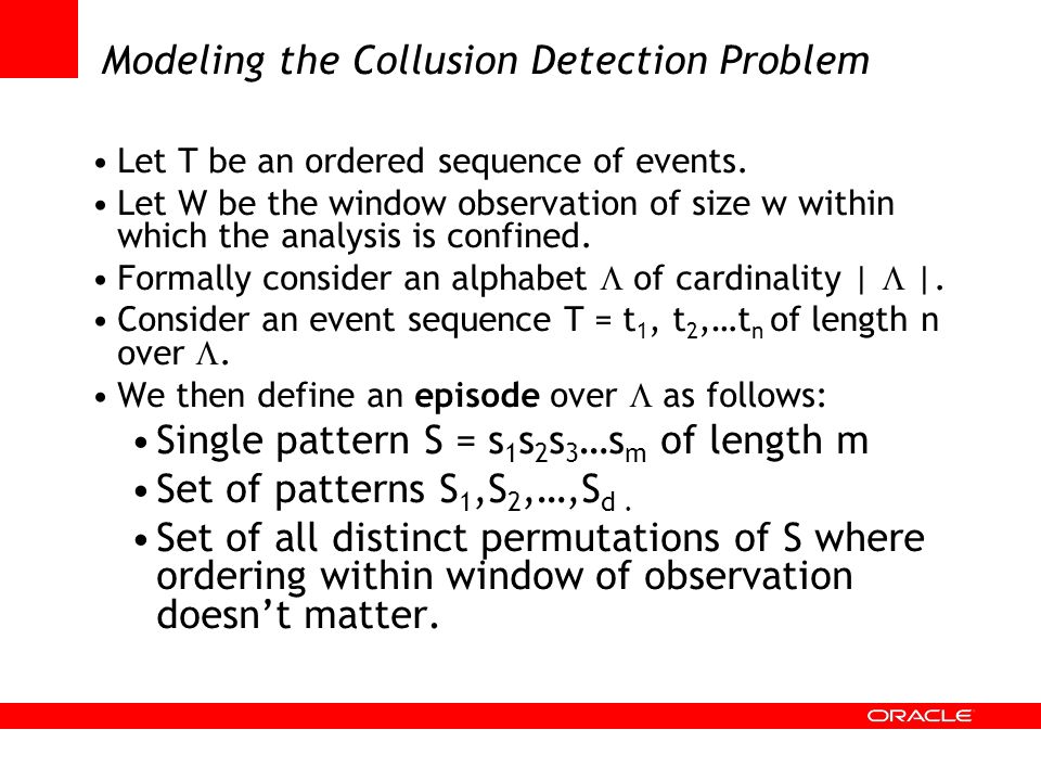 Modeling the Collusion Detection Problem