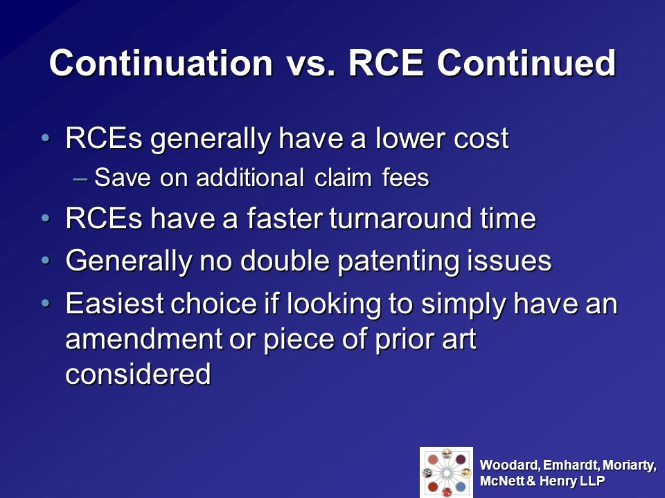 Continuation vs. RCE Continued