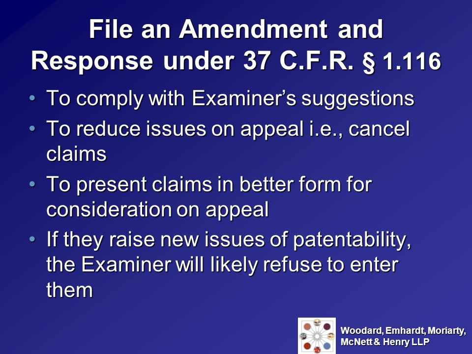 File an Amendment and Response under 37 C.F.R. § 1.116