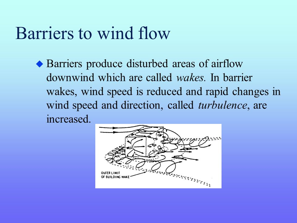 Barriers to wind flow