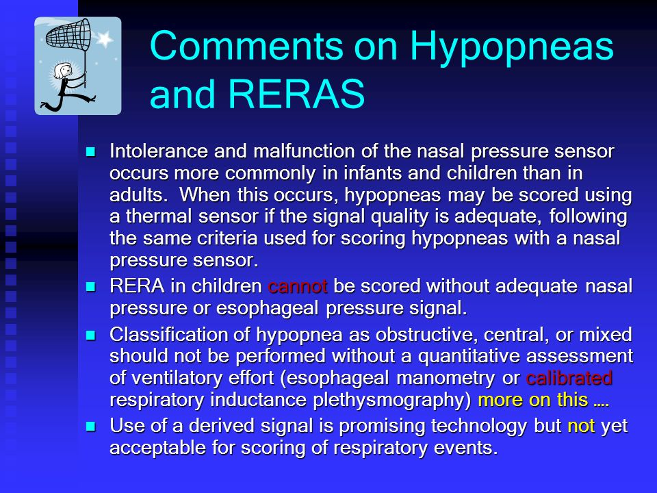 Comments on Hypopneas and RERAS