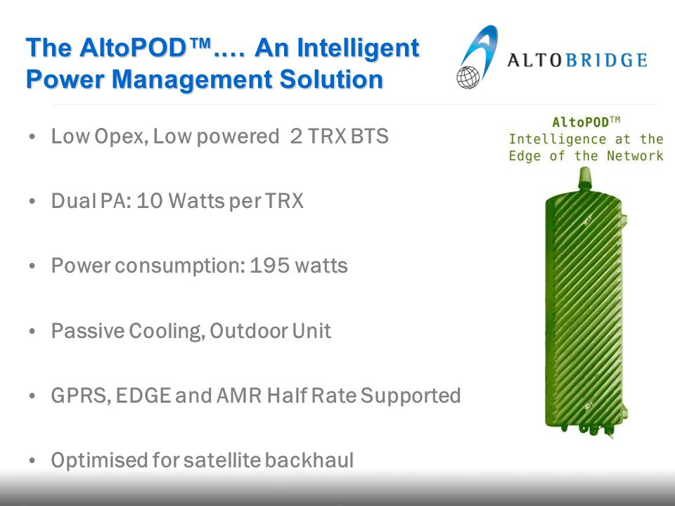 The AltoPOD™.… An Intelligent Power Management Solution
