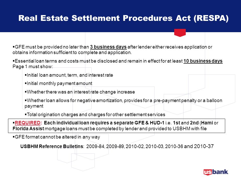 Real Estate Settlement Procedures Act (RESPA)