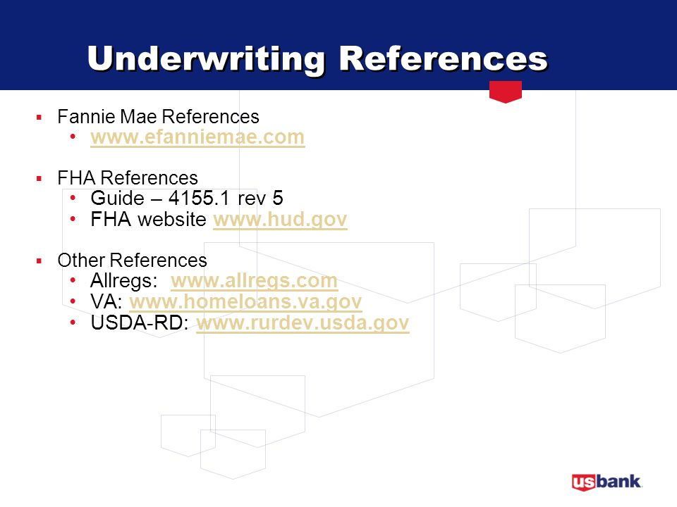 Underwriting References