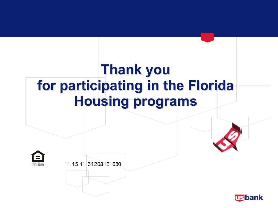 for participating in the Florida Housing programs