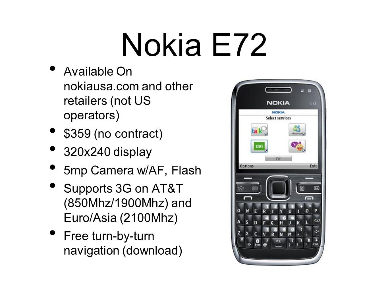 Nokia E72 Mobile Themes Download