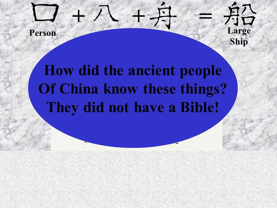 + + = How did the ancient people Of China know these things