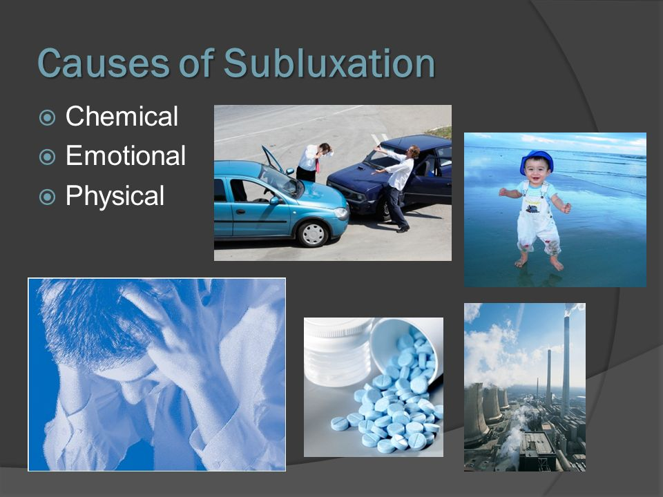 Causes of Subluxation Chemical Emotional Physical