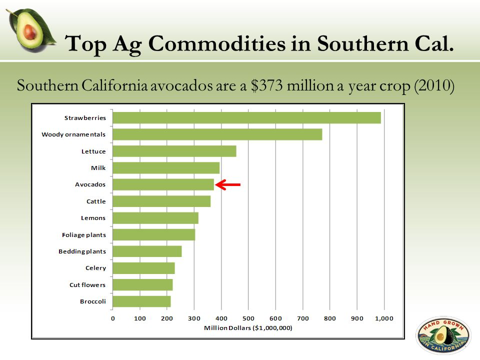 Top Ag Commodities in Southern Cal.